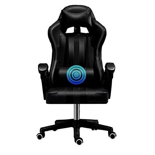 XXY Silla de Oficina Profesional al por Mayor Silla de Ordenador Profesional LOL Internet Cafe Sport Racing Silla WCG Silla de Juego (Color : Black)