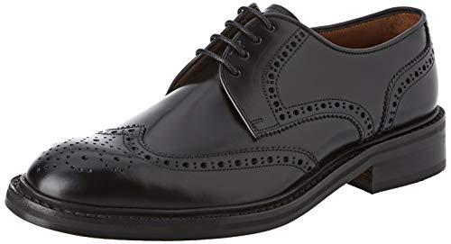 Lottusse L6724, Zapatos de Cordones Brogue para Hombre, Negro (Jocker P. Negro), 41 EU