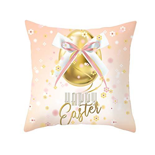 Yookstar Pillowcase - Funda de cojín decorativa con cremallera oculta, diseño de letras, 45 x 45 cm