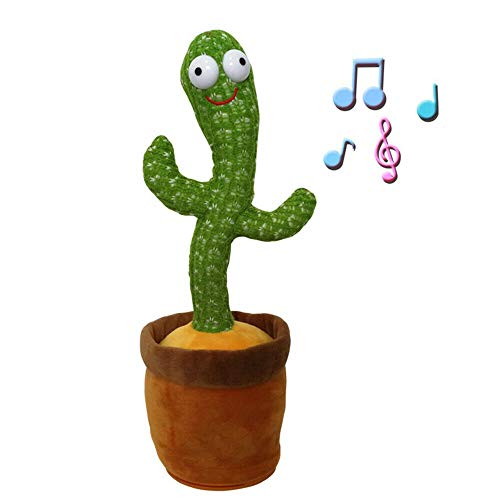 Plush Toys, Cute Green Dancing Cactus Plush Toy, 3 Songs Shake Song, Dance Succulent Plush Holiday Decoration Lovers Gift Funny Early Childhood Education Toys