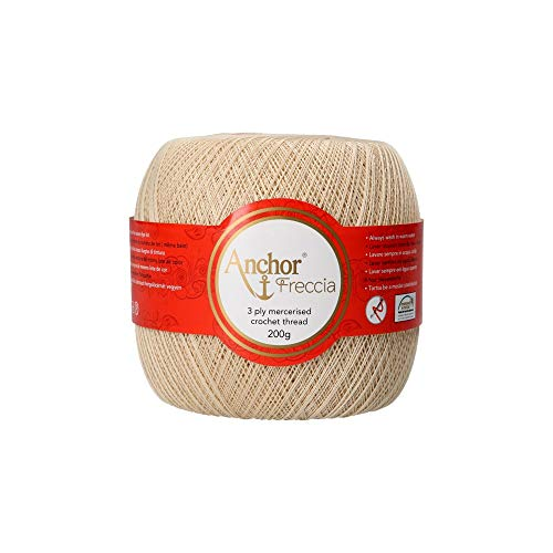 Anchor Hilos De Crochet Freccia, Fuerza: 20, Embalaje: 200G, Longitud: 2040M 387