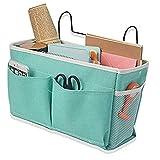 swj-swjssb tasche portaoggetti letto, 2 pcs borsa portaoggetti da appendere, organizer da comodino, tasche da letto appendibile per tavoletta, riviste, telecomando, cellulare, occhiali