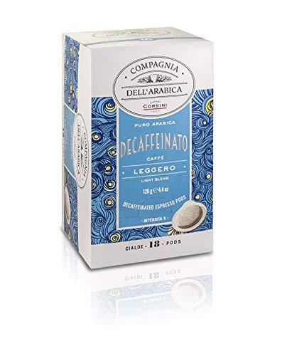 Caffè Corsini Compagnia Dell'Arabica Decaffeinato Espresso Kaffee 4 Packung Mit 18 ESE Pods, 130 g