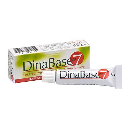 DinaBase 7 frei verkäufliches Haftgel für Zahnprothesen und Schnarchschienen, 7 Tage Halt, geschmacksneutral, anti-allergisch, klinisch getestet