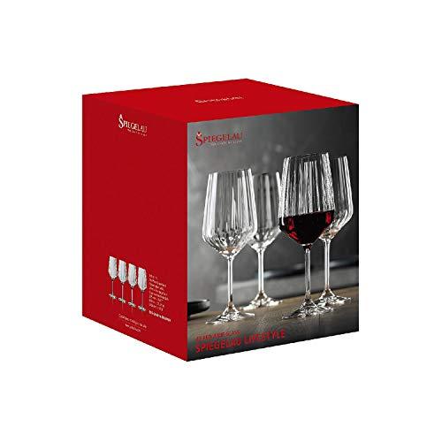 Spiegelau & Nachtmann, 4-teiliges Rotweinglas-Set, Kristallglas, 630 ml, Spiegelau LifeStyle, 4450171