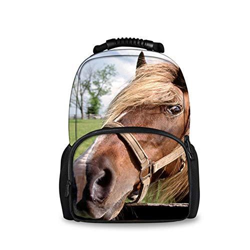fhdc Zaino Zaino Da Viaggio Da Uomo Di Moda Zaini Da Spalla Pazzi Di Animali Di Grande Capacità Per Cavalli 3D Zaino Per ScuolaW626A DelleRagazze Dei Ragazzi