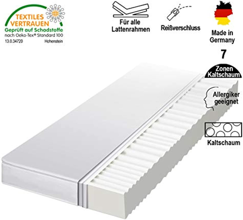 HydroCell 7 Zonen Rollmatratze Kaltschaummatratze - Hrtegrad 2in1 H2 & H3 - Matratze Made IN Germany (180 x 200 x 12 cm, H2 & H3)