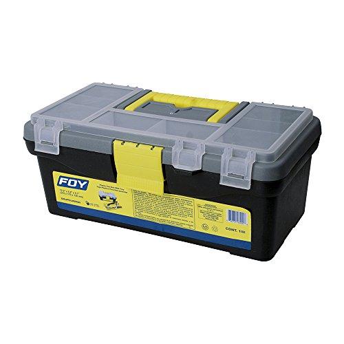 Foy 143200 Caja Portaherramientas Plástica con Organizadora, 12.5'