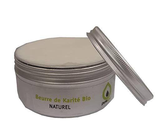 Beurre de KARITE Brut BIO,100% végétale, Purespa, sans parfum, 100gr,