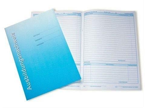 Berichtsheft / Ausbildungsnachweise für wöchentliche Berichte: wöchentliche Eintragungen, pro Woche 1 Seite