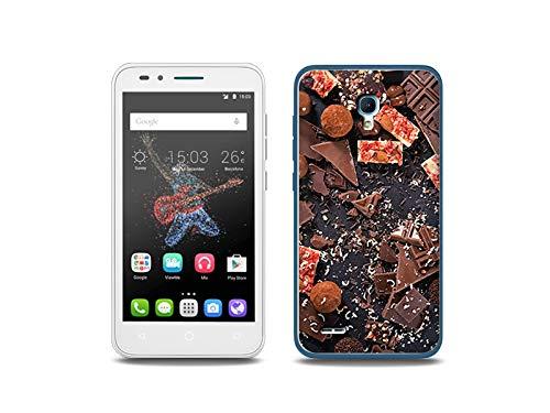 etuo Handyhülle für Alcatel One Touch Go Play - Hülle, Silikon, Gummi Schutzhülle - Süße Schokolade