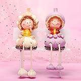 WOREX Esculturas para Sala Creative Pastoral Dibujos Animados Muñeca Granada Naranja Pera Chino Repollo Sandía Fruta Colgando Pies Muñeca Decoración del Hogar Precio Par Cebolla Ajo Colgando Pies
