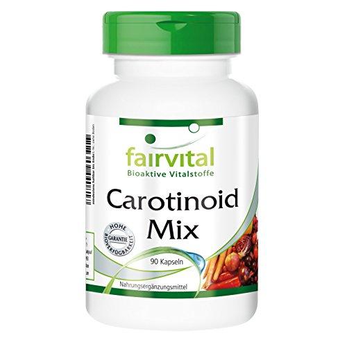 Carotinoid Mix - HOCHDOSIERT - VEGAN - 90 Kapseln - natürliche Carotinoide mit Anthocyanen