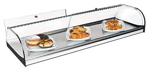 Vitrina expositora alimentos, ideal barra bar para los aperitivos, cristal curvo y...