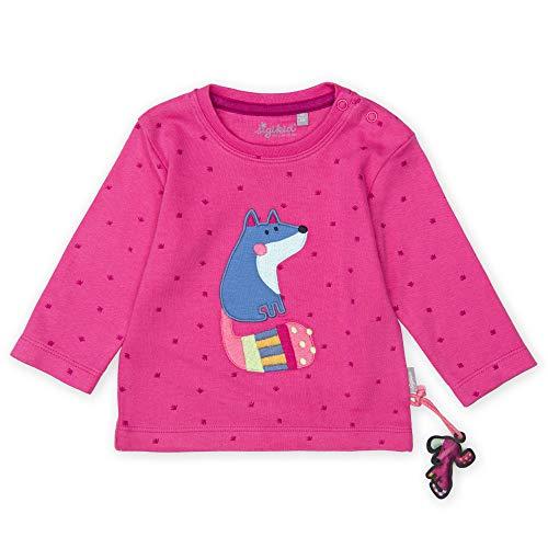 Sigikid Baby - Mädchen Langarmshirt Langarmshirt,, per pack Rosa (pink 682), 92 (Herstellergröße: 92)