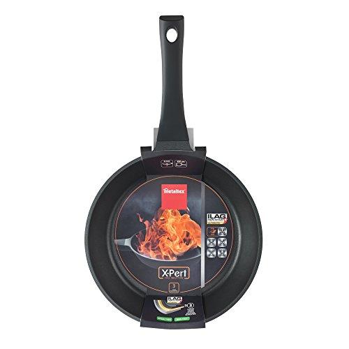 Metaltex XPERT - Sartén Aluminio Fundido, 26 cm, antiadherente 3 capas, Full Induction válido para todo tipo de cocinas