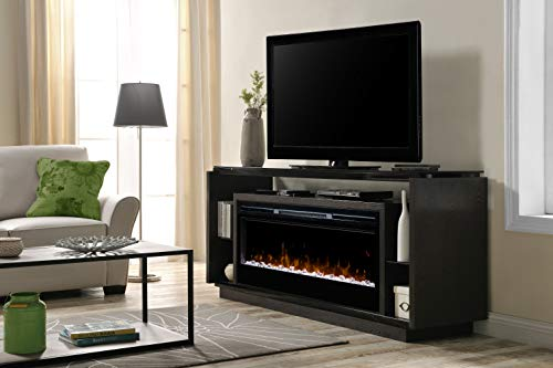 DIMPLEX David Media Console Electric Fireplace with Acrylic Ember Bed