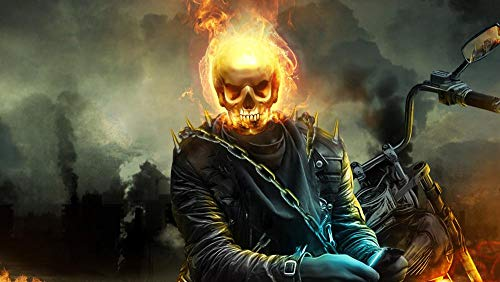 Slbtr 3D Wooden Puzzle Set 1000 Pieces - Ghost Rider: Spirit Of Vengeance M - Diy Model Kits For Adults Teens And Children - Ideal Christmas And New Year Gift - Gorgeous Home Décor