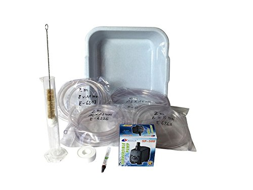Accessoireset met waterpomp voor koperen stills tussen 3-20 liter