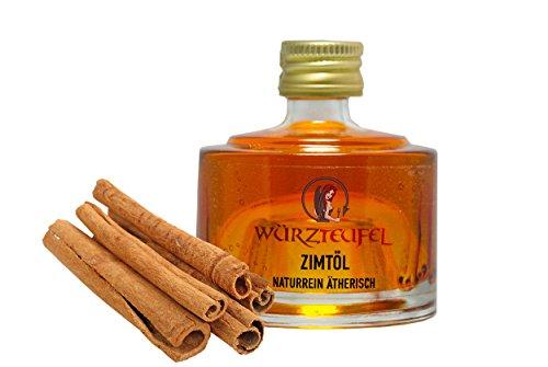 Zimtöl, NATURREIN, ÄTHERISCH. Cassiaöl aus frischer Ernte. Spitzenqualität. Stapelbare Glasflasche 40ml.