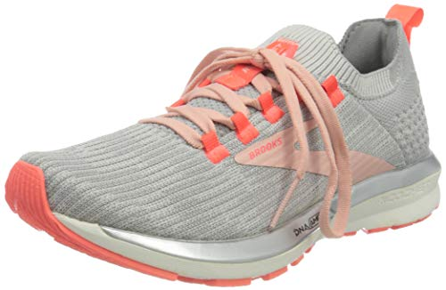 Brooks Damen Ricochet 2 Laufschuh, Grey/Alloy/Coral Cloud, 39 EU