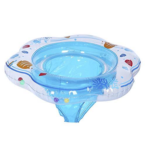 Kinder Schwimmen Ring Sommer Baby aufblasbare Schwimmring Sprengen Kinder Trainer Wasser Spielzeug für 0-3 jahre alt Kleine Babys(Blau)