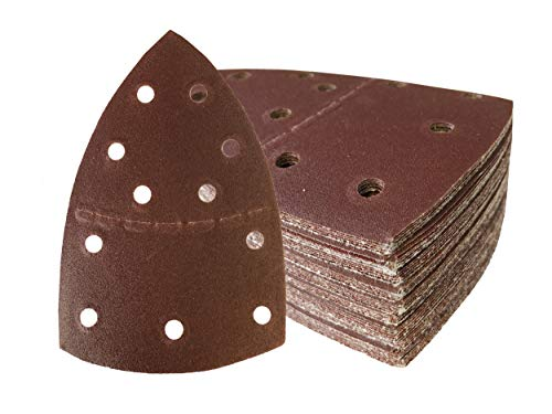 Hojas de lija (50 unidades, 105 x 152 mm, grano 100, para lijadora Prio)