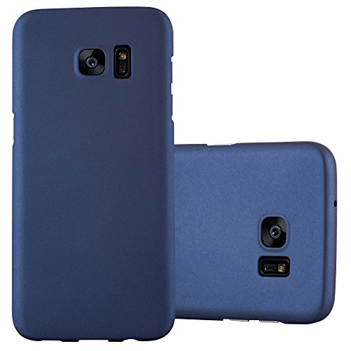 Cadorabo Custodia per Samsung Galaxy S7 EDGE in AZZURRO METALLO - Rigida Cover Protettiva Sottile con Bordo Protezione - Back Hard Case Ultra Slim Bumper Antiurto Guscio Plastica