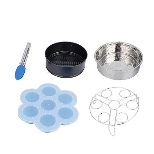Asixxsix Eierregal, leicht zu reinigende Kuchenform, 304 Edelstahl-Lebensmittel-Dampfkorb, Schnellkochtopf-Dampfregal, zum Dämpfen von Brokkoli-Dampf-Mais