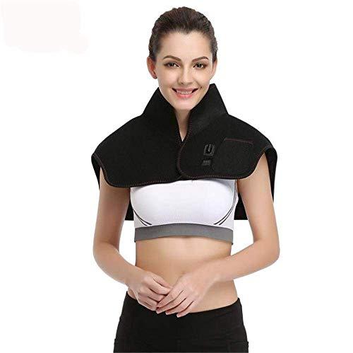 NOSSON Elektrische Massagemaschine, elektrische Heizung Moxibustion Warm halten Schal 7,4 V Sicherheitsspannung Schultervibrationsmassagegerät zur Entspannung