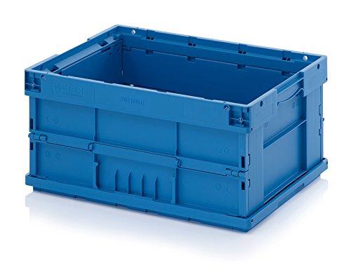 Faltbox Klappbox KLT Behälter 60x40x28 cm Boden glatt geschlossen