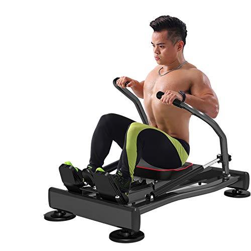 Ouumeis Multifunktions Heim Rudergeräte Einstellbarer Widerstand Hydraulisches Cardio Workout Kompaktes Faltrudergerät Sportgeräte Zum Abnehmen