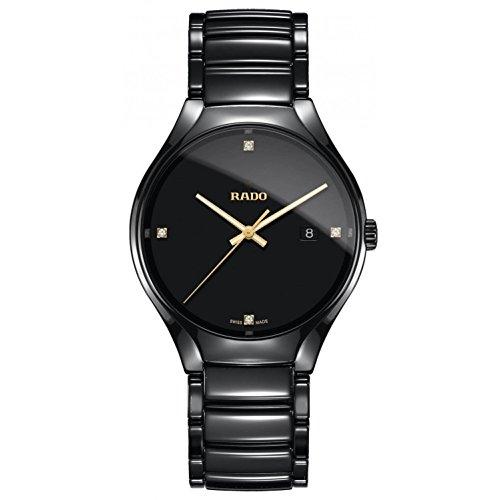 Rado Herren-Armbanduhr 40mm Armband Keramik Schwarz + Gehäuse Quarz R27238712