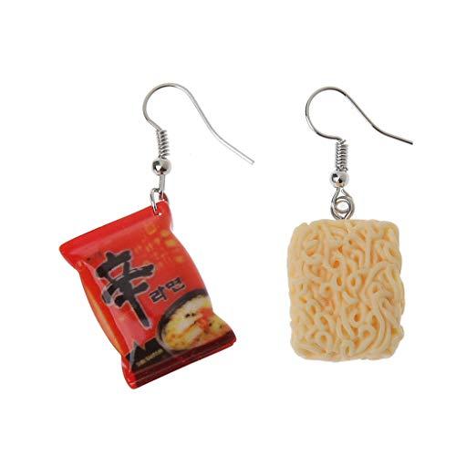 zrshygs Funny Instant Noodle Chili Simulation Food Drop Earrings Women Fashion Jewelry