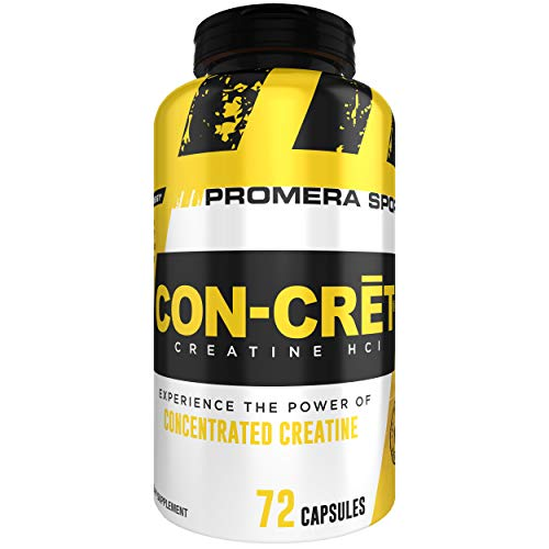 Promera Sports, CON-CRET Creatine HCl Capsules, Micro-Dose Creatine, No Bloating, No Upset Stomach, No Water Retention, No Loading, Made in USA, Gluten Free, Keto Friendly, 72 Capsules