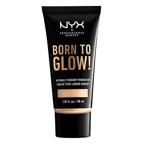 NYX PROFESSIONAL MAKEUP Born To Glow Naturally Radiant Foundation, Medium Coverage - Pale
