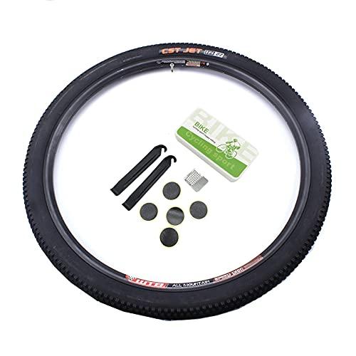 LHYAN Neumático de Bicicleta de montaña 20/24 /26/27,5 * 1,95 27,5/29 * 2,1 con Herramienta de reparación de neumáticos sin Pegamento Neumático de Bicicleta de Repuesto,29 * 2.1
