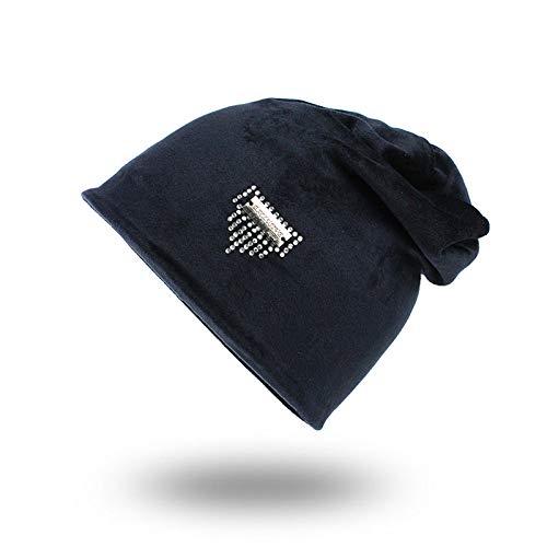ERKEJI Lo Sombreros de Punto Moda Casual Caliente Protectores Cabeza Protector Solar a Prueba de Polvo Turbante Luna Sombrero del oído de ✅