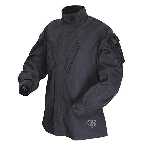Tru-Spec 1288005 Tactical Response Uniform Shirt, Poliestere Cotone Rip-Stop, Grande Regolare, Nero