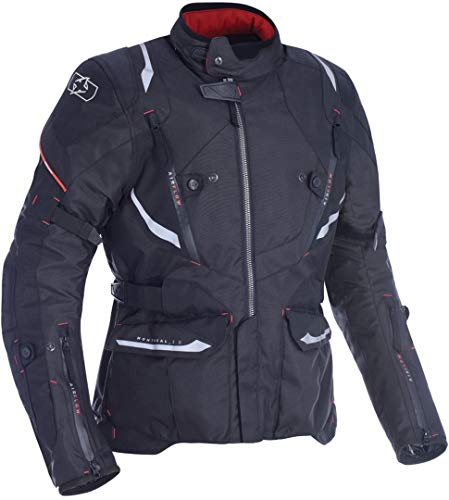 Oxford Montreal 3.0 Mens Waterproof Textile Motorcycle Jacket - Tech Black 4XL