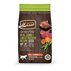 #1 ingredient: deboned meat, Fish or poultry: Merrick Grain free dog food recipes contain leading levels of high quality proteins for healthy energy levels, building muscle mass and a great taste your dog will love Healthy skin and coat, hips and joi...