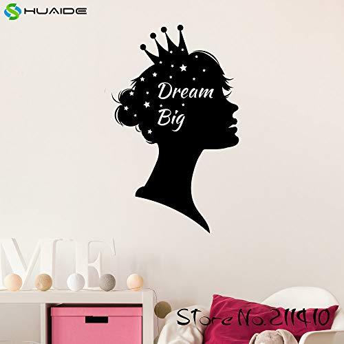 woyaofal Traum Große Prinzessin Home Wall Decal Aufkleber Adesivo De Parede Vinyl Wandaufkleber Für Mädchen Zimmer Baby Kinderzimmer Tapete 93X57 cm
