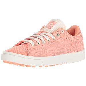 adidas Unisex Jr. Adicross Classic Golf Shoe, chalk coral chalk white/chalk coral s, 6 Medium US Little Kid