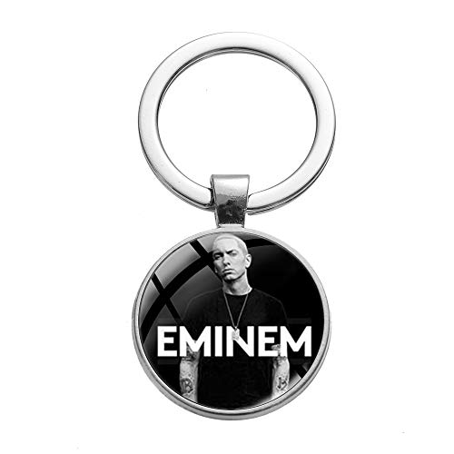 Llavero de estrella de rap, diseño de Eminem, cristal, para...
