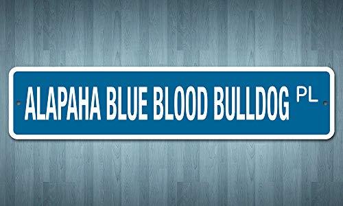 """Deerts 5059 SS Alapaha Blue Blood Bulldog 4"""" x 18"""" Novelty Street Sign Aluminum 2"""
