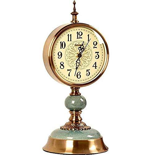GANE Uhr und Uhr Dekoration Uhr Wohnzimmer Wohnzimmer Atmosphäre Villa Desktop Dekoration Dekoration Uhr Arbeitszimmer Kreative Tischuhr37,5 * 16,5 cm (ohne Batterie)