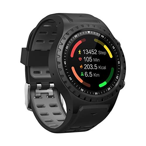 M1 Smart Watch Telefon WiFi BT GPS Schrittzähler Herzfrequenz Smartwatch für Sport (Schwarz + Grau)