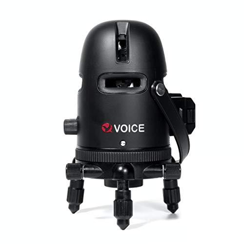 VOICE レーザー墨出し器 5ラインレーザー Model-R5 メーカー1年保証 4方向大矩ライン照射モデル アプリからの遠隔操作 タッチスイッチ