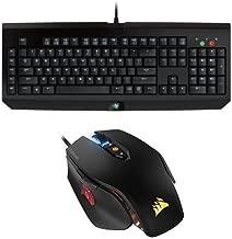 Razer BlackWidow Expert Mechanical Gaming Keyboard and Corsair Gaming M65 PRO RGB Gaming Mouse