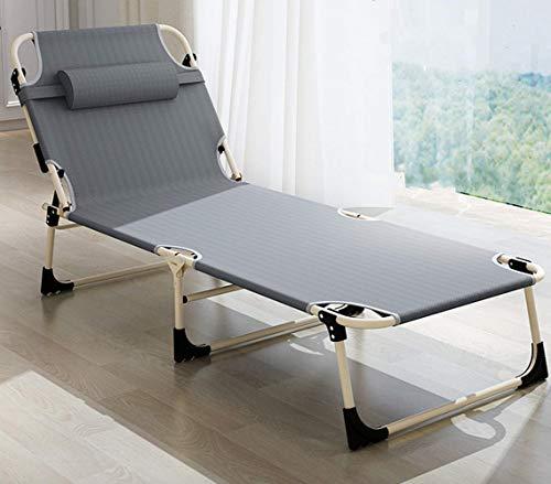 Chaise Longue de Jardin Pliable Bain de Soleil Inclinable 4 Positions Transat de Relaxation Fauteuil Jardin Charge Max 300 kg